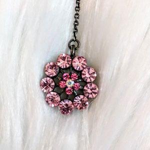 Jewelry - Pink Crystal Drop Earring